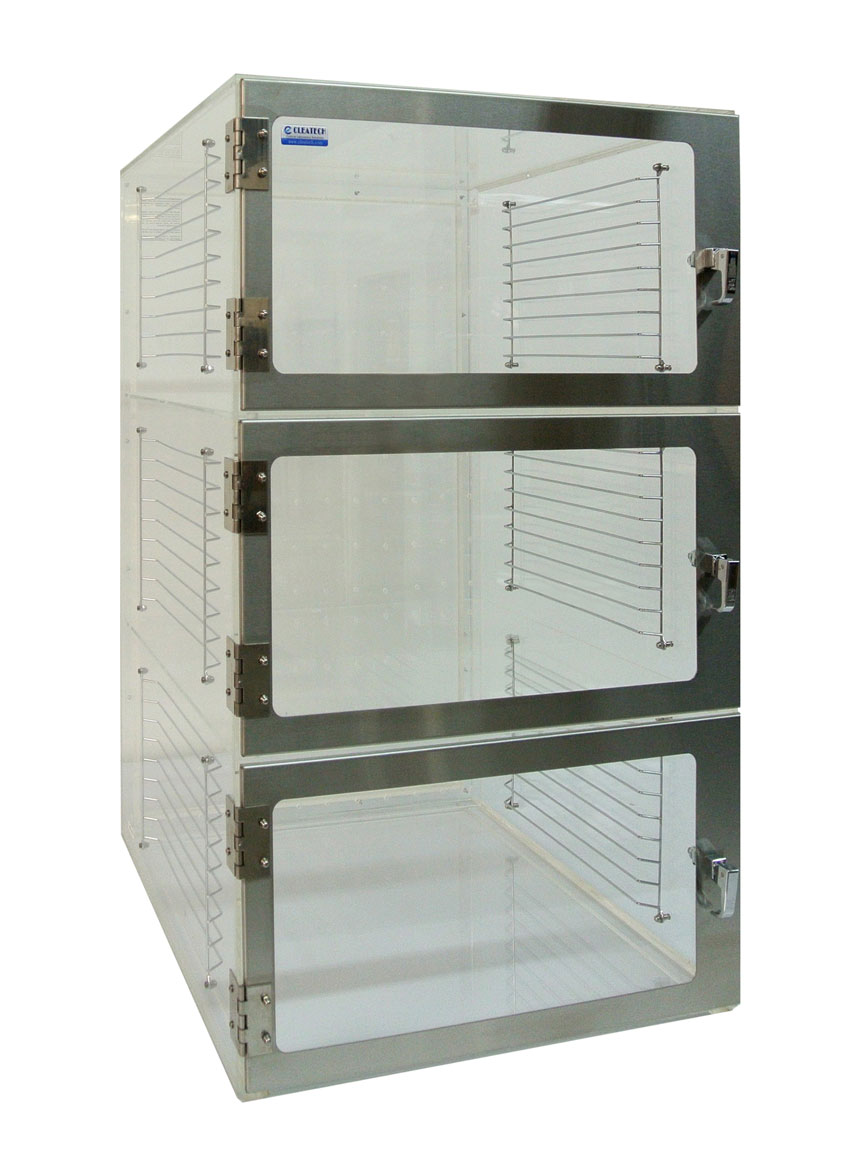 1500 Three Door Desiccator Static-Dissipative PVC