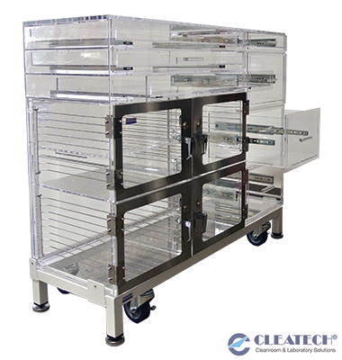 Custom Desiccator Cart with Sliding Drawers