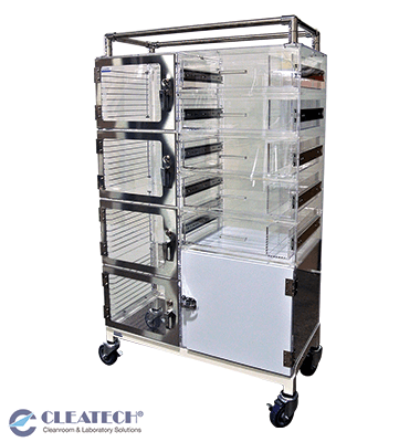 Custom Mobile Desiccator Cart with Kitting Storage
