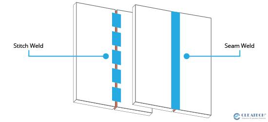 Seam Weld vs Stitch Weld Diagram
