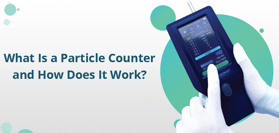 What is a particle counter and how does it work?